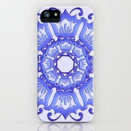 Floral mandala. violet texture. iPhone Case