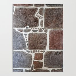 Stone wall colour 3 Poster