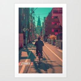 TOKYO BIKE RIDE Art Print