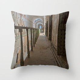 Green Grunge Mile Throw Pillow