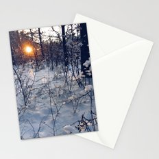 sunset of this winter Stationery Cards