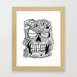 skull a bull Framed Art Print