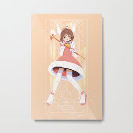 Cardcaptor Sakura - Wood Card Metal Print