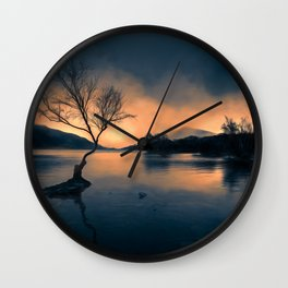 Lone Tree Snowdonia Wall Clock
