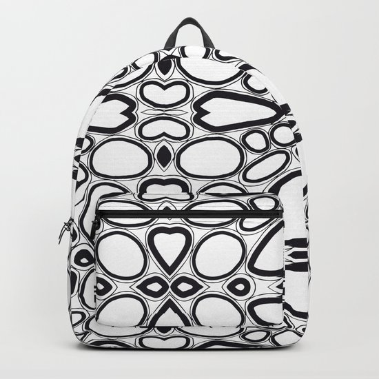 fancy grid Backpack