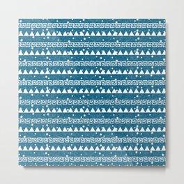 Mountain Pattern Blue Metal Print
