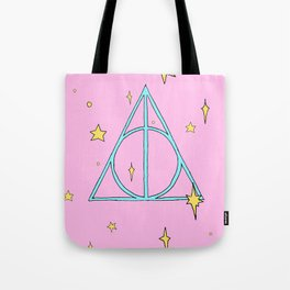 Harry potter // pastel deathly hallows Tote Bag