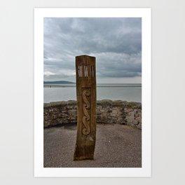 Wooden Marker Weston-super-Mare Art Print
