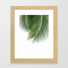 Delicate palms Framed Art Print