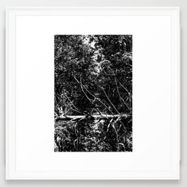 Black White Nature Framed Art Print