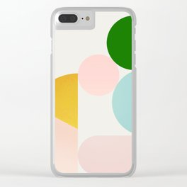 Abstraction_Minimal_Shapes_001 Clear iPhone Case