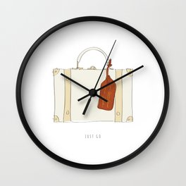 Just Go - Travel Adventure Suitcase Wall Clock