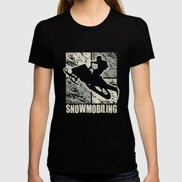 Snowmobiling Stunt Art Cubism T-shirt
