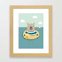 Bear in the Sea Framed Art Print