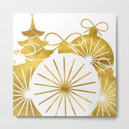 Gold Christmas 01 Metal Print