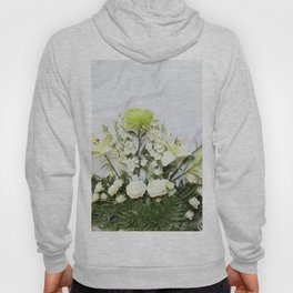Green and Cream Flowers Hoody