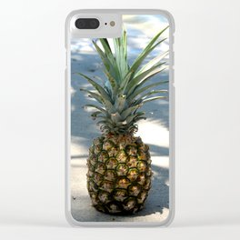 Pineapple in shadows Clear iPhone Case