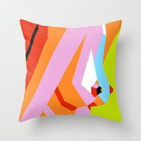 boob Throw Pillows featuring Side Show by Arney Bee