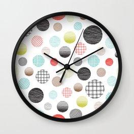 Drawn Circles Wall Clock