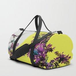 Yellow sky and rowan tree Duffle Bag