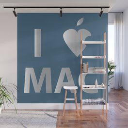 I heart Mac Wall Mural
