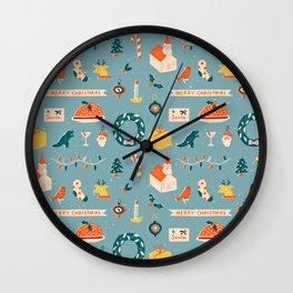 Christmas eve Wall Clock