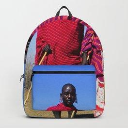 3 African Men from the Maasai Mara Backpack