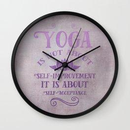 Yoga Philosophy Typography Art Wall Clock