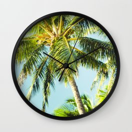 Maui Paradise Palms Wall Clock
