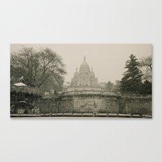 Sacre Coeur on a Snowy Day Canvas Print