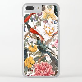 Floral and Birds XXXV Clear iPhone Case