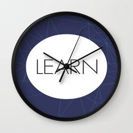 Learn - One Word Wall Clock