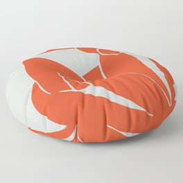 Blue Nude in Orange - Henri Matisse Floor Pillow