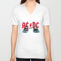 acdc V-neck T-shirts featuring ACDC by victimArte