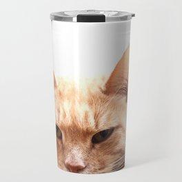Red cat watching Travel Mug