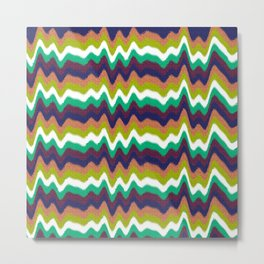 Colorful Heartbeat Metal Print