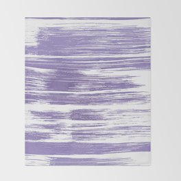 Modern abstract lilac lavender white watercolor brushstrokes Throw Blanket