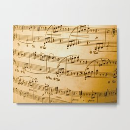 Music Sheet Metal Print