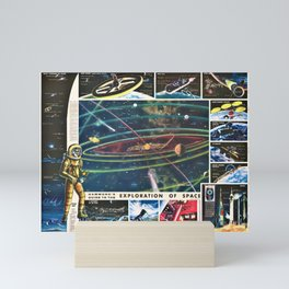 1959 Hammond's Guide To The Exploration of Space Wall Art Mini Art Print