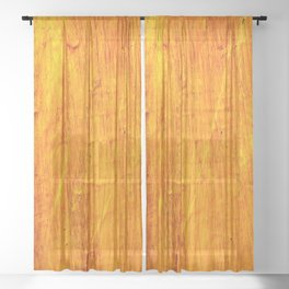 Crimson Yellow Sheer Curtain