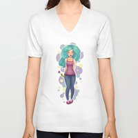 polka V-neck T-shirts featuring Polka by Jessica May