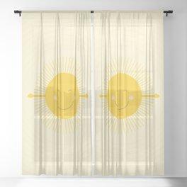 hugged by the sun Sheer Curtain