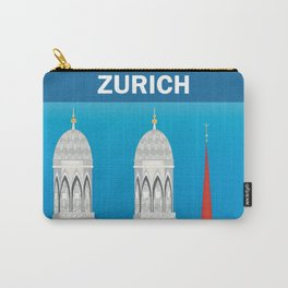 Zurich, Switzerland - Skyline Illustration by Loose Petals Carry-All Pouch