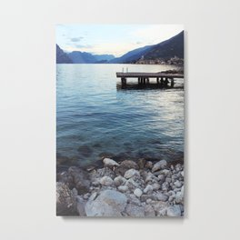 Shores of Lake Garda Metal Print