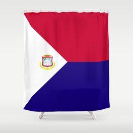 Saint Martin flag emblem Shower Curtain