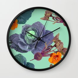 Cabbages Wall Clock