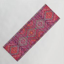 N118 - Pink Colored Oriental Traditional Bohemian Moroccan Artwork. Yoga Mat