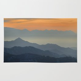 """""""Sunset at the mountains"""". Dreaming... Rug"""