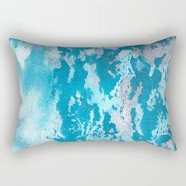 """Lace"" Blue and pink ink textures Rectangular Pillow"
