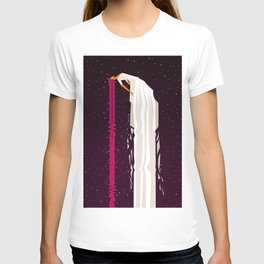 woman flying in space T-shirt
